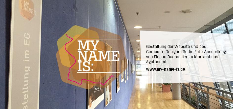 My Name Is – CI und Webdesign für eine Foto-Ausstellung